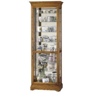 Узкая стеклянная витрина Howard Miller – Chesterfield II