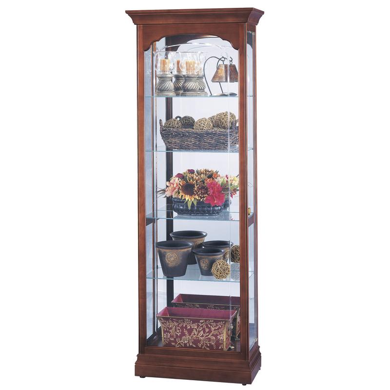 Узкая стеклянная витрина Howard Miller - Portland