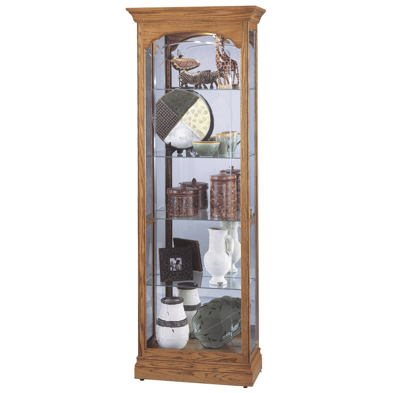 Узкая стеклянная витрина Howard Miller - Torrington
