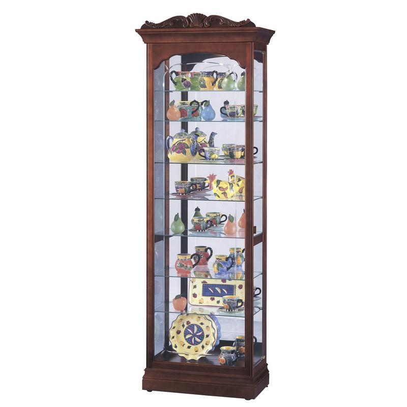 Узкая стеклянная витрина Howard Miller - Hastings