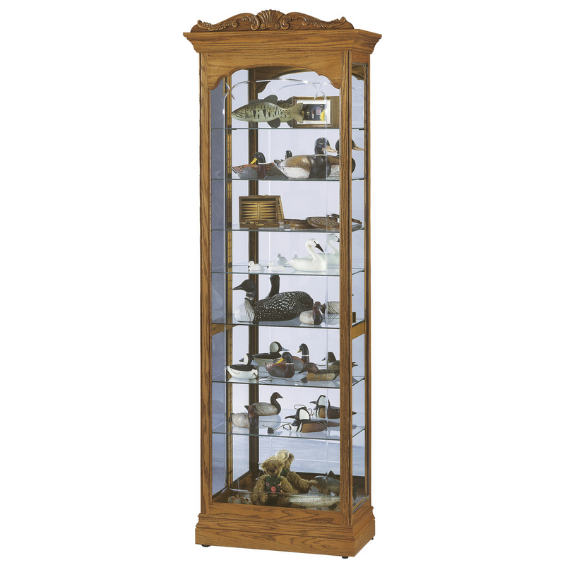 Узкая стеклянная витрина Howard Miller - Cumberland