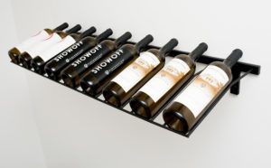 Настенный винный стеллаж 3-9 бут. 0,75л. НАКЛОННЫЙ