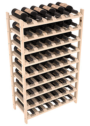 Широкая Полка для хранения 54 бутылок (66смх108смх30см)