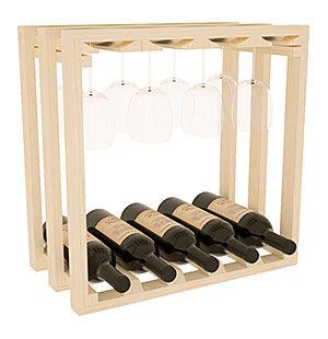 Полка – решетка Куб с местом под бокалы на...